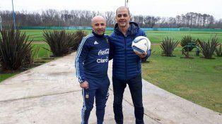 Jorge Sampaoli mantuvo una reunión con Sergio Hernández en Ezeiza