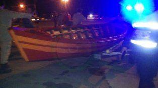 Secuestrada. La canoa será peritada por la Policía.
