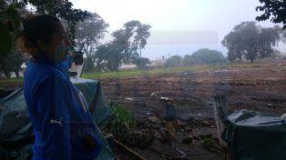 Sin piedad. Gabriela Petrechelli mostró cómo quedó el terreno luego de la demolición de su casa.
