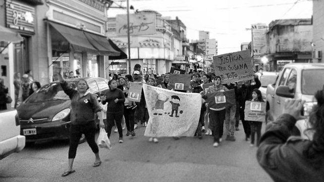 Ayer marcharon en Gualeguaychú por el femicidio de Susana Villaruel.