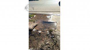 Caño roto=desperdicio de agua potable