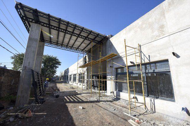 El ingreso del nuevo edificio.