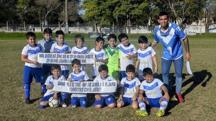 Sportivo Urquiza se sumó a la competencia y participa con la categoría 2009. FotoUNOMateo Oviedo