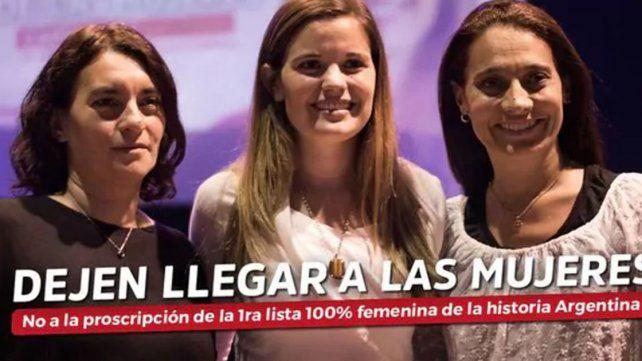 El espacio feminista anotó cinco candidatos masculinos bajo rebeldía para poder competir
