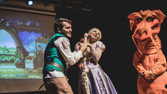 Adaptación. La obra Rapunzel. Una aventura muy descabellada podrá verse hoy en el Teatro.