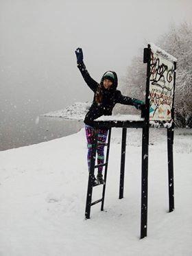 La súper nevada, en primera persona, por una diamantina en Bariloche