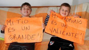 Larroque recibió al jugador Alejandro Benítez que donó parte de su hígado a un sobrino