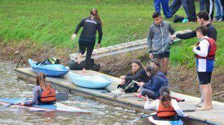 Las chicas también formaron parte de la competencia.
