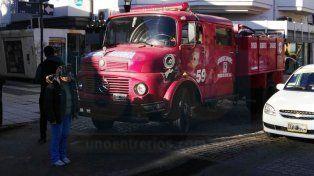 Principio de incendio en un comercio de la peatonal de Paraná