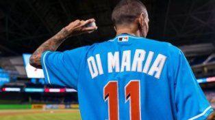 Di María se animó al béisbol