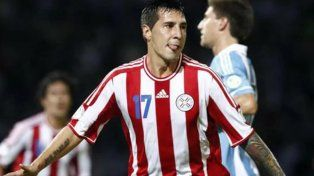 Fabbro, con la camiseta de la Selección de Paraguay.