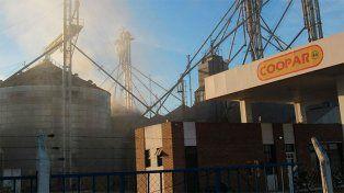El incendio de un silo en Nogoyá dejó pérdidas millonarias