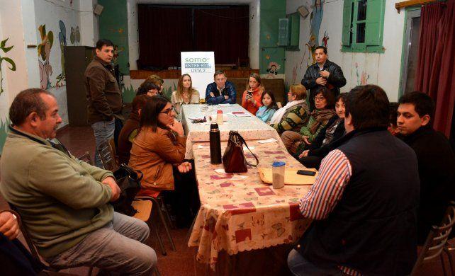 los candidatos de Bordet también fueron a la parroquia San Roque.