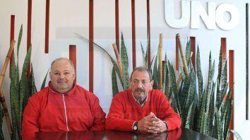 Diego Burgos Antonini y Juan Carlos Torrent, de la Unión Suiza de Paraná.
