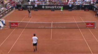 Momentos de tensión en el partido entre Ferrer y Verdasco