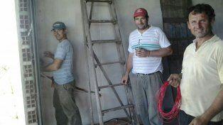 Paso a paso. Por estos días trabajaron en la obra que necesitan para avanzar.