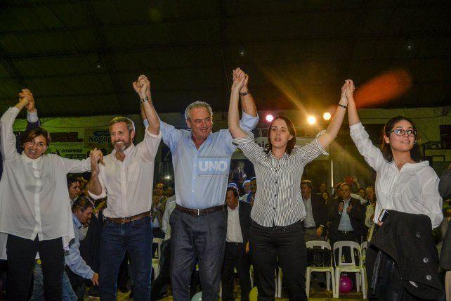 Frigerio en el acto del 14 de julio en Recreativo. Foto UNO Mateo Oviedo.