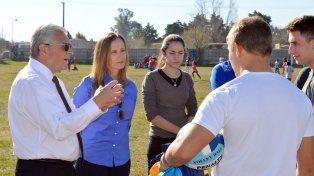 Laurito y Cresto con los entrenadores.