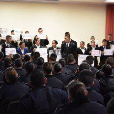 En la Escuela de Policía realizaron un taller de capacitación bajo la consigna #NiUnaMenos.
