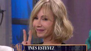 El descargo de Inés Estévez por hacer la V de la victoria frente a Mirtha Legrand