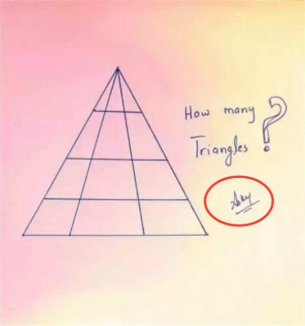 ¿Cuántos triángulos ves en la imagen?: el acertijo viral que muy pocas personas lograron resolver