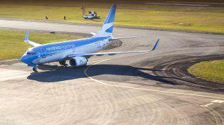 Más rápido. El vuelo a Buenos Aires tarda en llegar a destino entre 50 minutos y una hora.