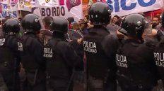 incidentes en la marcha de los trabajadores despedidos de pepsico