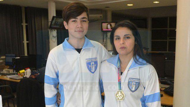 Competidores. Leonel Gómez fue sexto en Córdoba y Sandra Berón edificó una gran tarea para ser la mejor en su divisional.