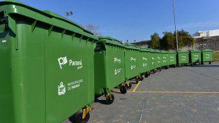 Colocaron nuevos contenedores en el sudeste de Paraná