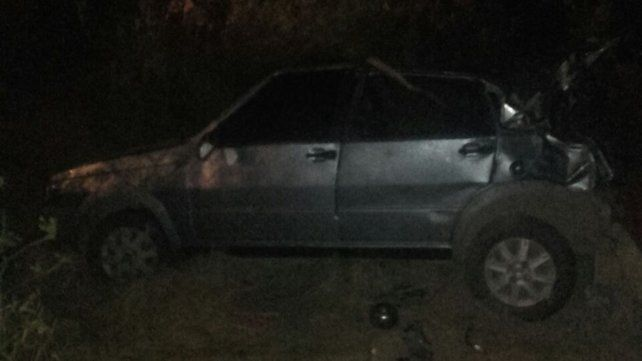 Una niña y dos mujeres fueron hospitalizadas tras volcar un auto en la ruta nacional 14