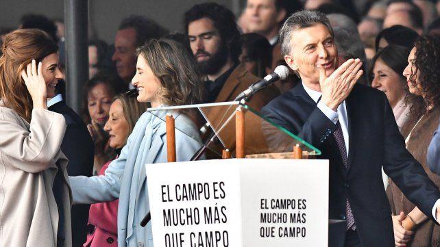 Macri en La Rural: Cuando crece el campo, crece la Argentina