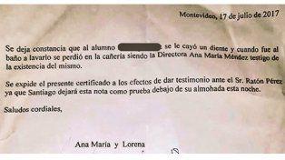La tierna carta al Ratón Pérez que escribió la directora de una escuela se volvió viral