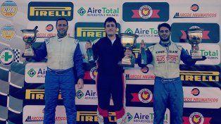 El podio del TC 850 que corrió su cuarta fecha con Ramiro Albisu