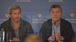 Rogelio Frigerio y Mauricio Macri.