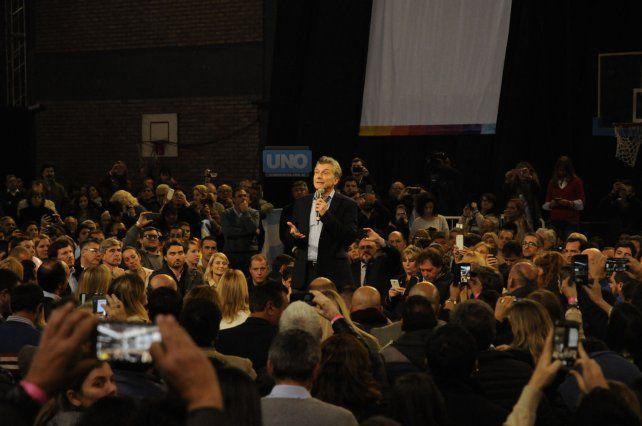 El presidente Macri en Santa Fe.
