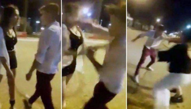 Trompada filmada: dejarían libre al agresor y acusan a las mujeres de desorden