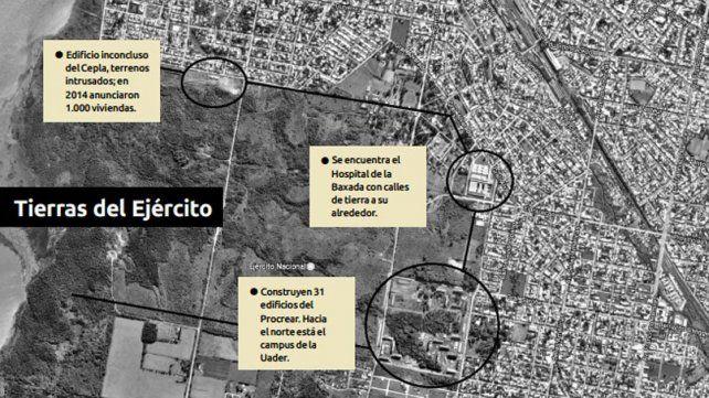 Hay 330 hectáreas a urbanizar, en disputa y flojas de papeles