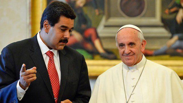 Maduro y el papa Francisco.