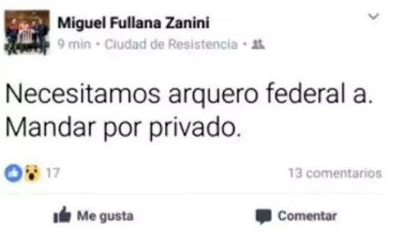 Un equipo del ascenso argentino busca arquero a través de Facebook