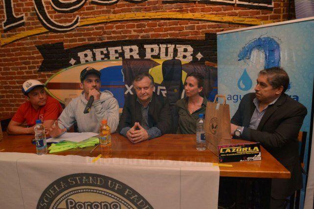 Francisco Guisti encabezó el lanzamiento de la sexta fecha del Campeonato Argentino de SUP