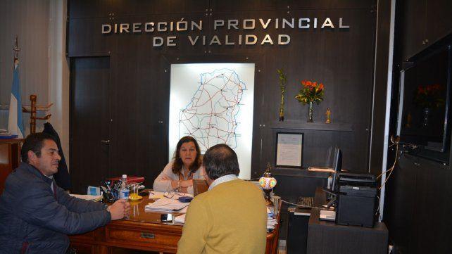 Reunión. Treppo habló ayer con la titular de Vialidad provincial.