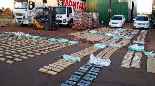 Detuvieron a ocho hombres tras secuestrar más de 4.000  kilos de marihuana