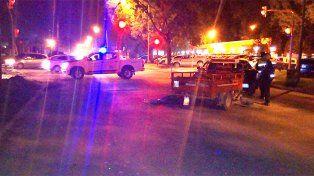 Manejaba borracho y chocó a un auto en avenida Almafuerte