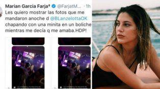La furia de Marian Farjat por una foto que le llegó de Brian