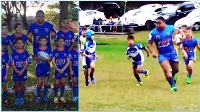 El increíble jugador de rugby de 7 años que pesa 100 kilos