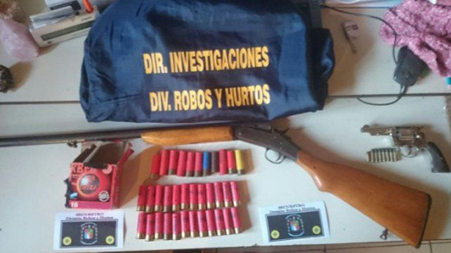 Aguantadero. En una vivienda guardaban armas y municiones.