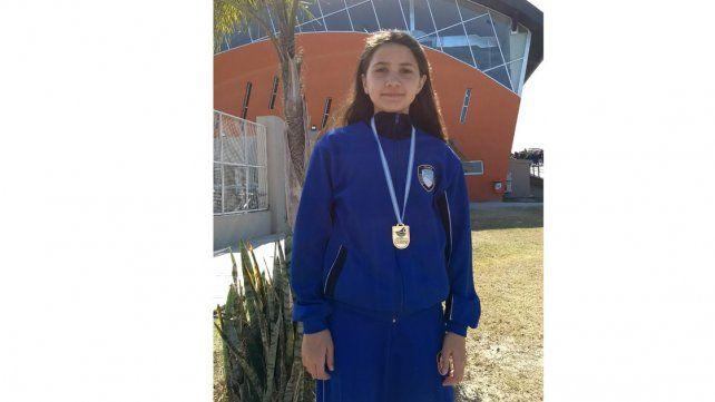 La representante del PRC se colgó la medalla dorada.