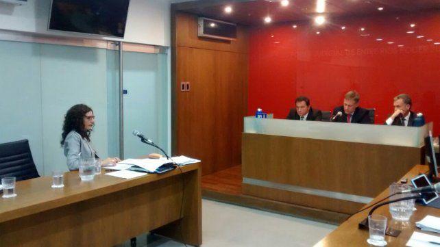 Falta de pruebas. La fiscal Federik no pudo mantener la acusación contra la acusada. Foto Javier Aragón