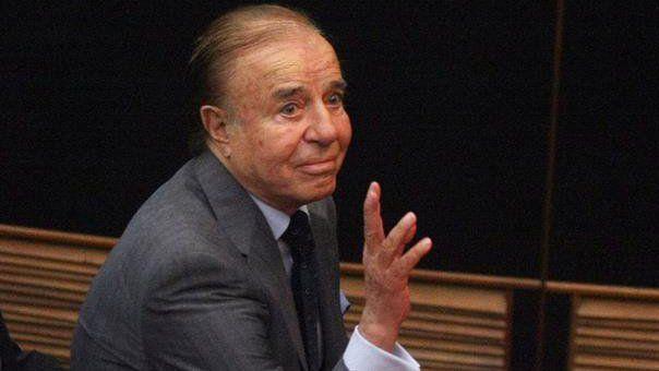 Los fueros. Menem pretendía un nuevo mandato como senador para evitar la condena y prisión.