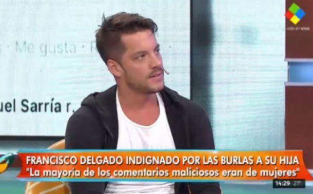 Francisco Delgado, indignado por las burlas a su hija